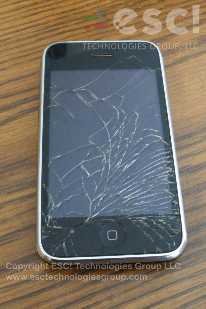 Cracked iPhone 3GS