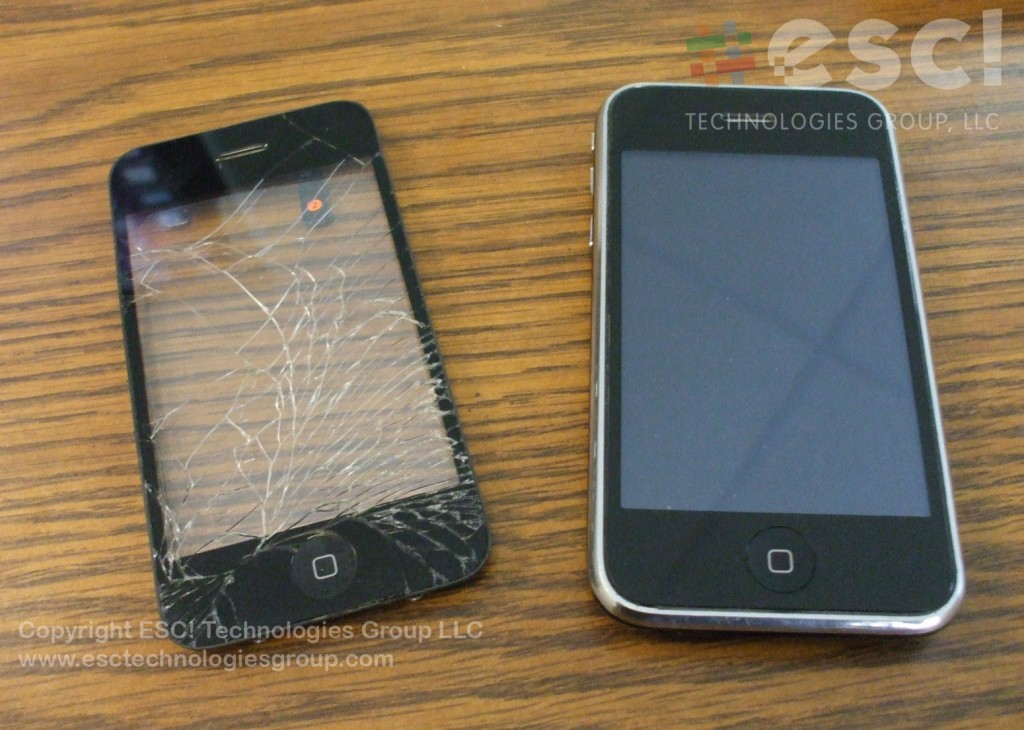 Before and After iPhone Front Panel Repair