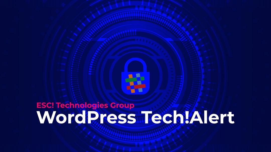 WordPress TechAlert Graphic